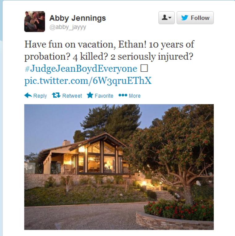 Abby Jennings, Tweet