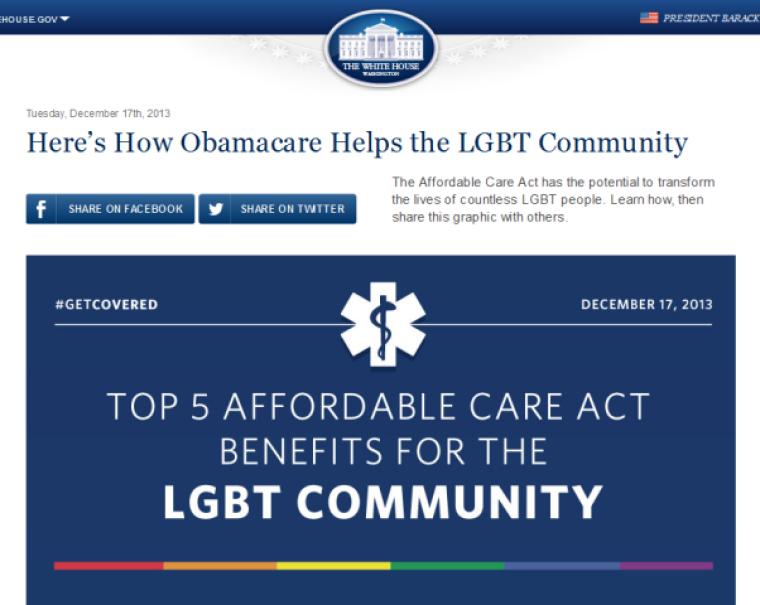 LGBT Obamacare infographic