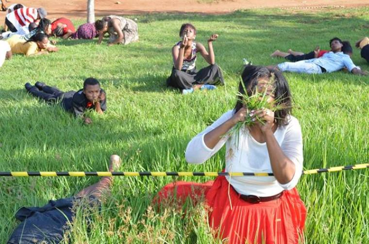 Woman eating grass, Rabboni Centre Ministries