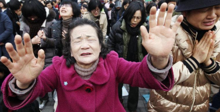 South Koreans Prayer rally