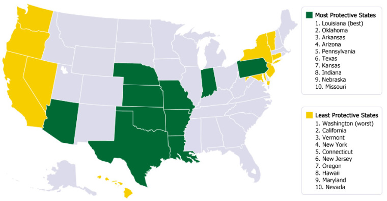 Americans United for Life 'Life List' Map