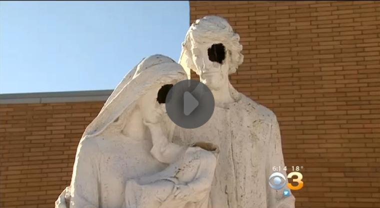 Holy Family Statue Vandalized