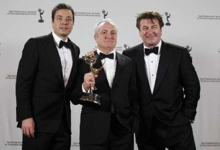 Jimmy Fallon, Lorne Michaels, and Alec Baldwin