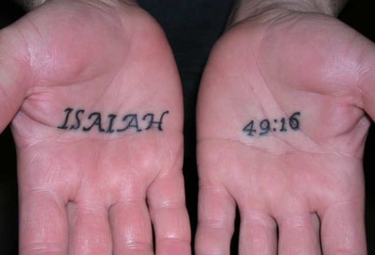 Isaiah 49:16 tattoo