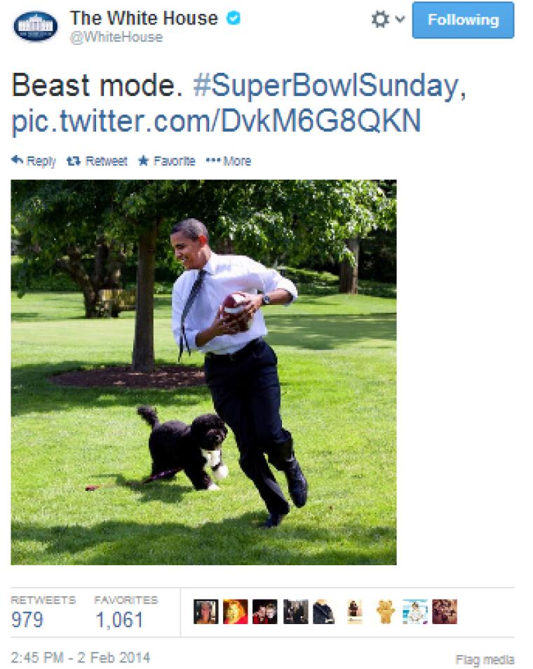 Obama Super Bowl Tweet