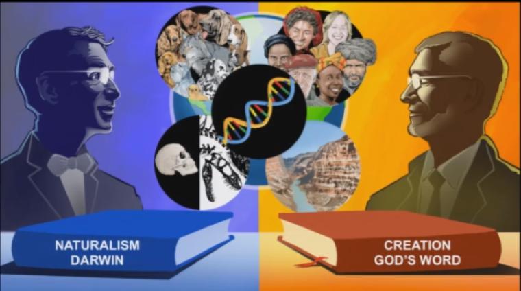 Science Faith Debate Graphic