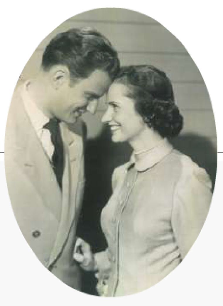 Ruth and Billy Graham Smiling at Each Other