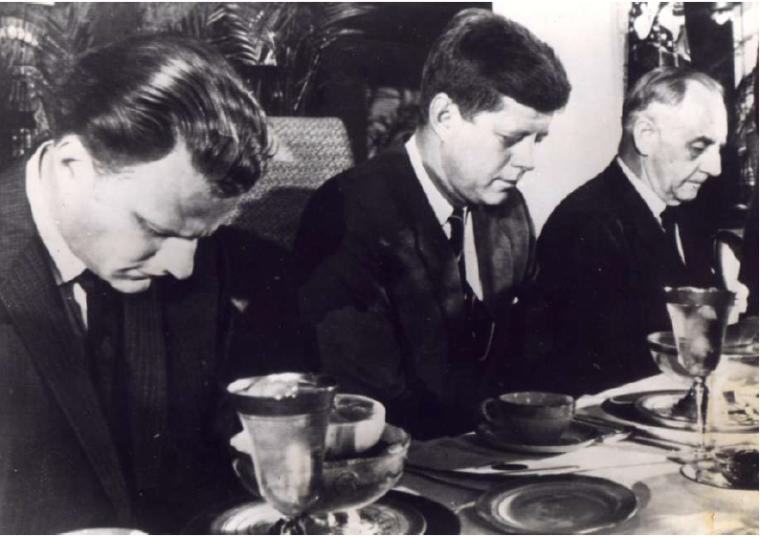 Billy Graham Prays with President Kennedy
