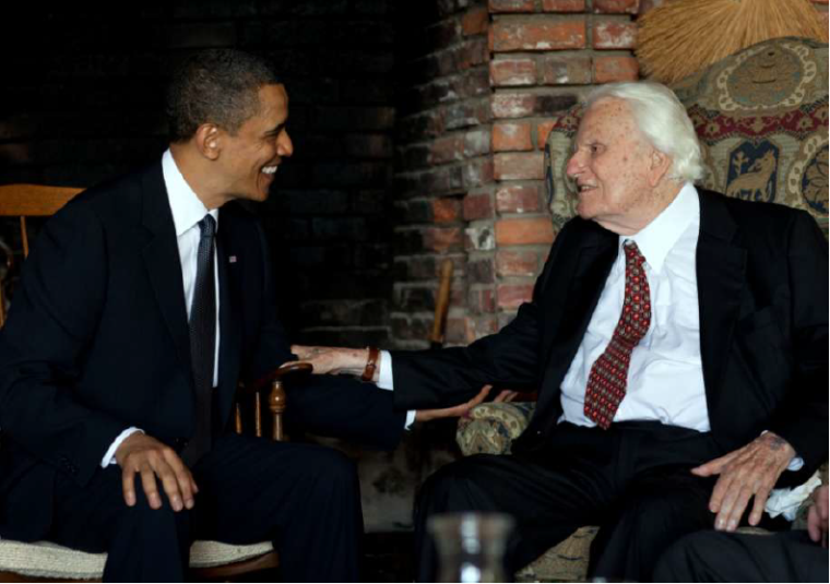 Billy Graham and President Obama
