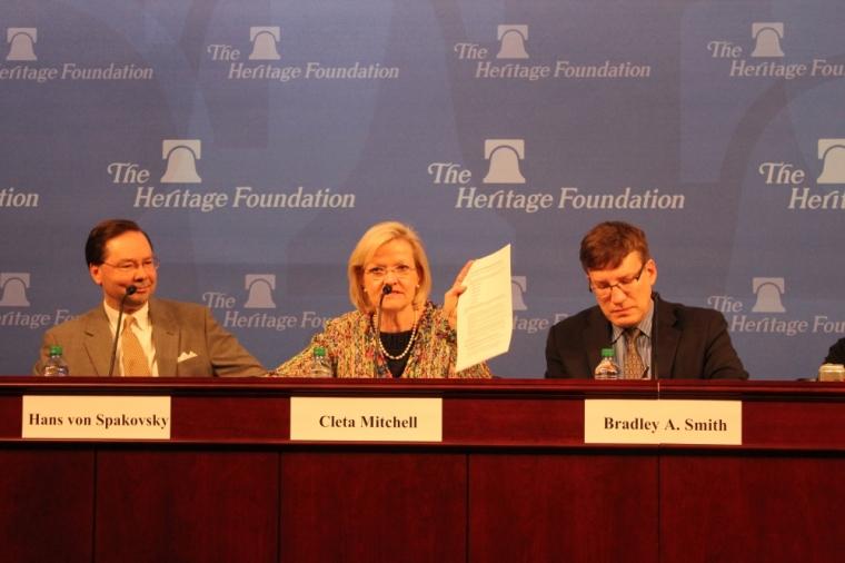 Cleta Mitchell, Heritage IRS Panel