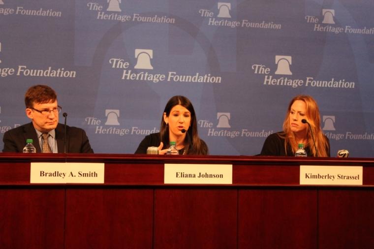 Eliana Johnson, Heritage IRS Panel