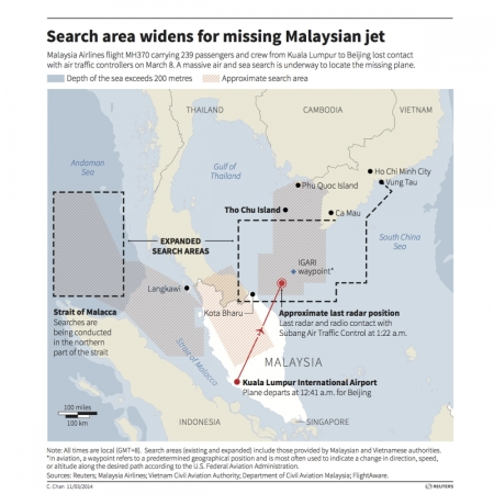 Malaysia Flight Status: Missing Malaysia Airlines Flight 370 ...
