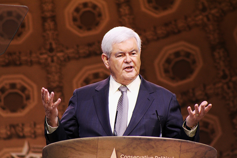 Former House Speaker Newt Gingrich at CPAC