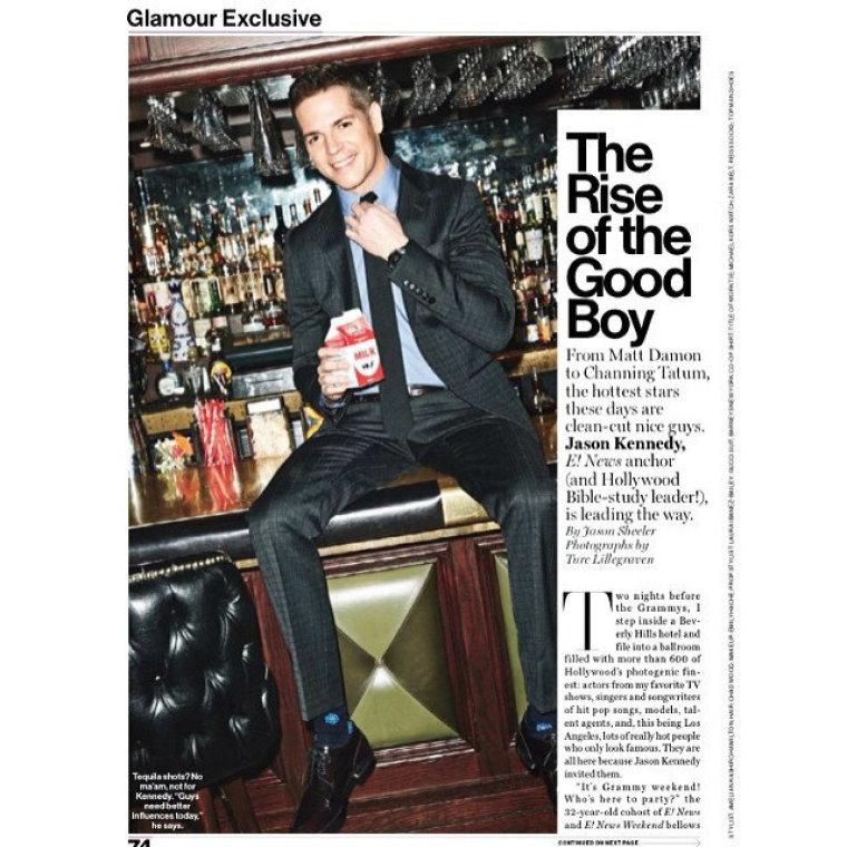 Jason Kennedy Glamour magazine