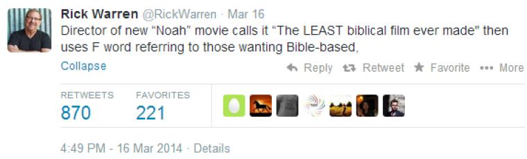 Rick Warren Twitter