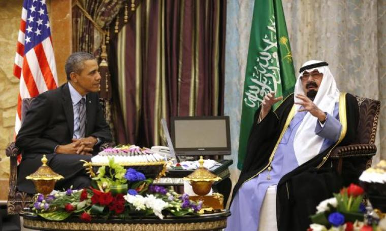 President Barack Obama (L) and King Abdullah (R)