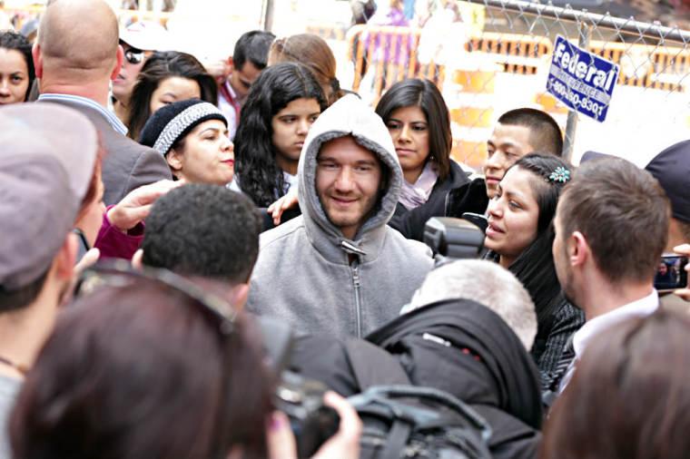 Nick Vujicic Times Square