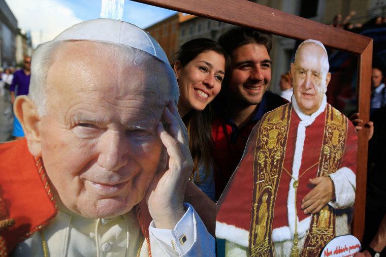 pope francis cannonization of john paul II