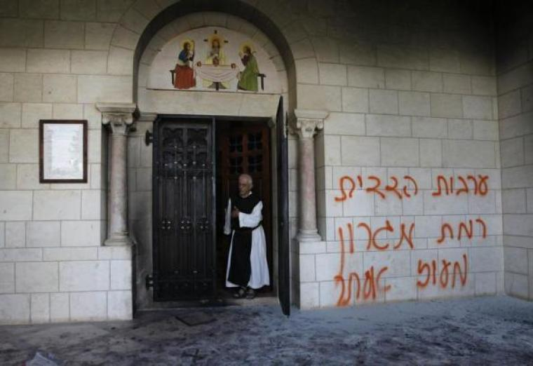 Vandalized monastery in Israel