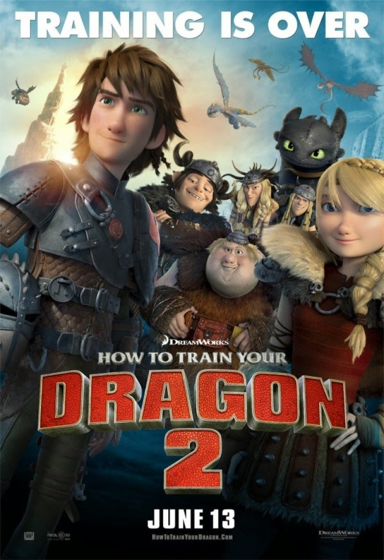 'How to Train Your Dragon 2' poster