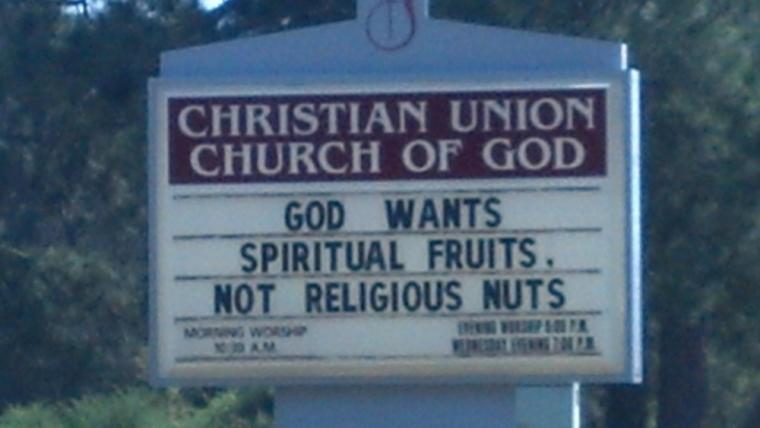 Church sign - fruit