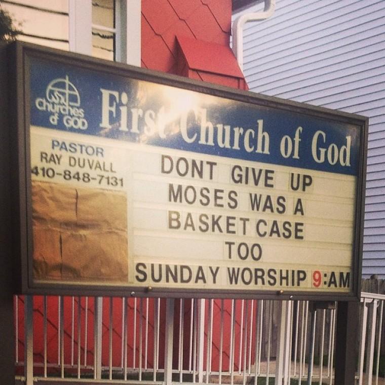 Church sign - Moses