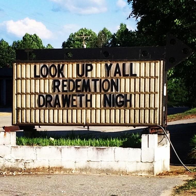 Church sign - yall
