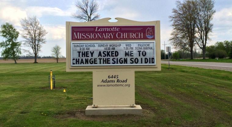 Church sign - change