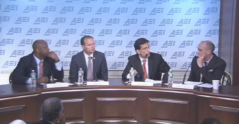 Sen. Tim Scott, Sen. Mike Lee, Rep. Eric Cantor, AEI President Arthur Brooks