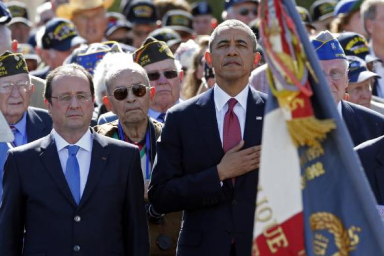 President Obama and French President Francois Hollande
