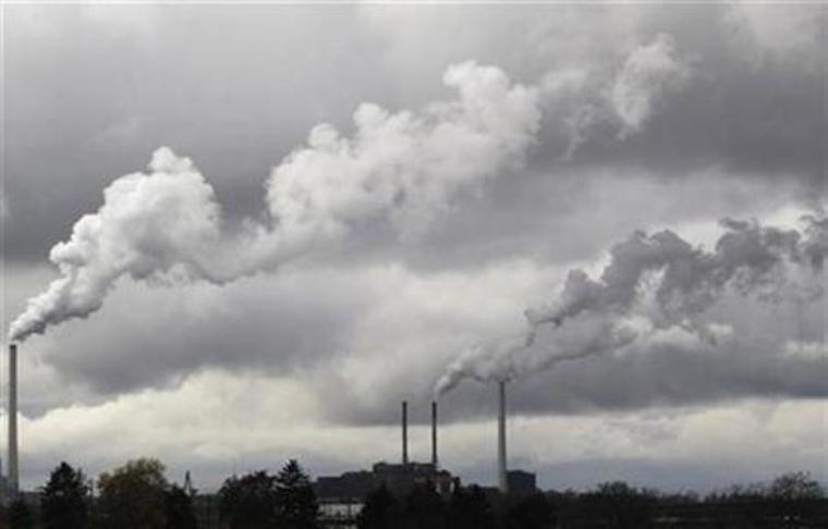 Chimneys of a coal-fired power station