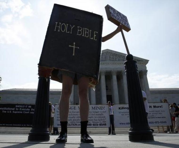 Supreme Court Hobby Lobby Protestor