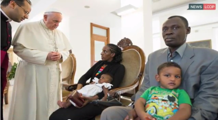 Meriam Ibrahim, Pope Francis