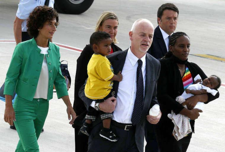 Meriam Ibrahim Arrives in Italy