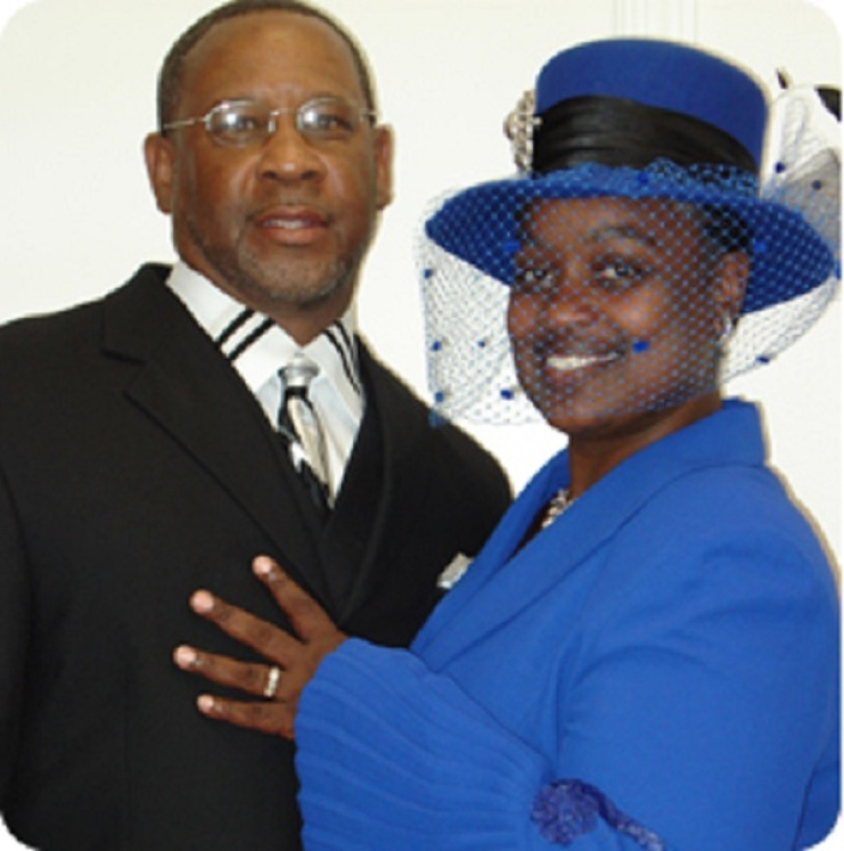 Pastor Andre Harris and his wife Gloria.