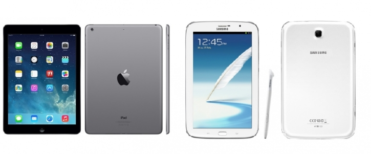 Samsung Galaxy Note 8 0 vs  iPad Air Review: Which Tablet is