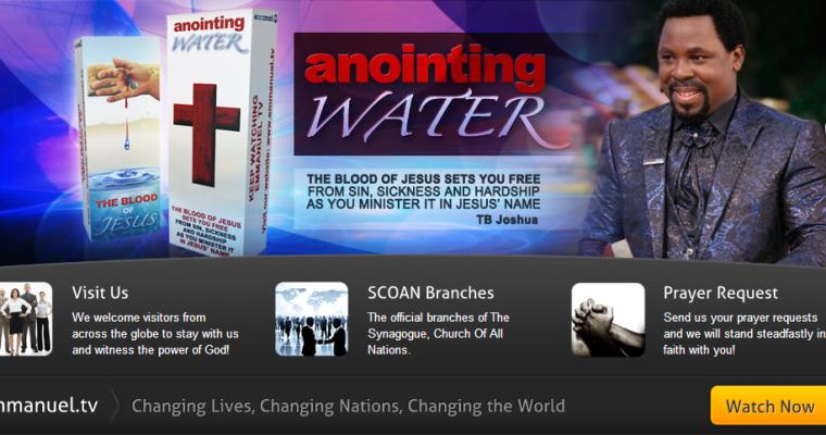 TB Joshua, Anointing water