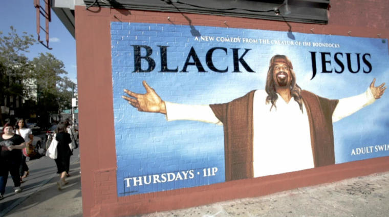 'Black Jesus' mural ad