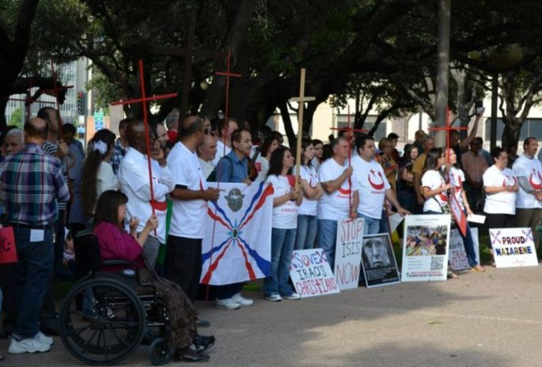 Rally in support of persecuted Christians in Iraq