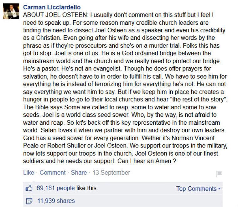 Carman Licciardello Osteen FB