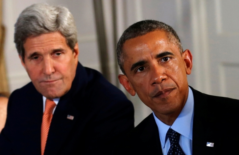 U.S. President Barack Obama and U.S. Secretary of State John Kerry