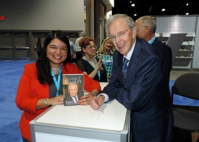 Ruth Malhotra with Dr. Charles Stanley