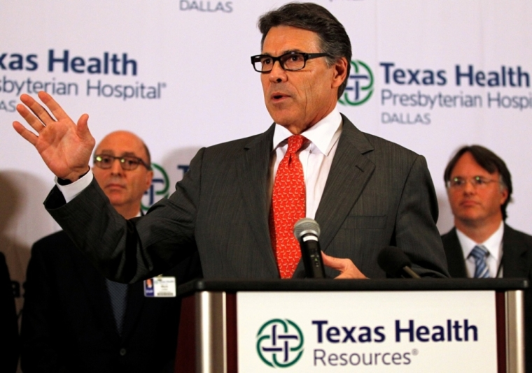 Texas Governor Rick Perry speaks on Ebola