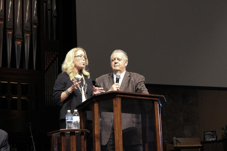 Donna Rice Hughes and Richard Land