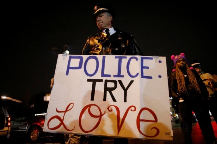 Protesters in Ferguson, Missouri