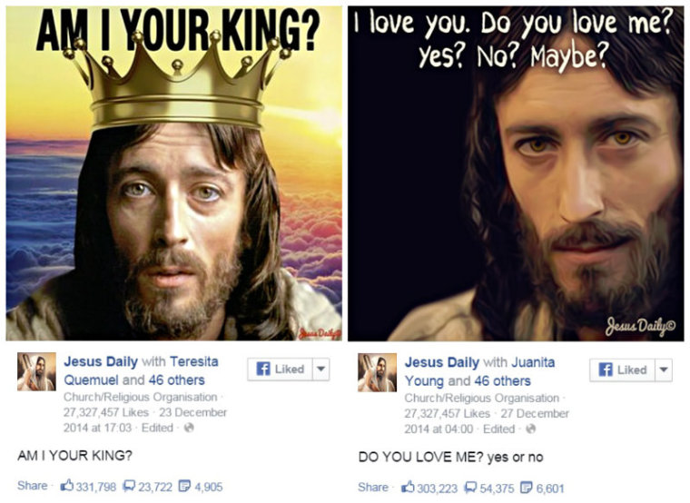 Jesus Daily Facebook page post