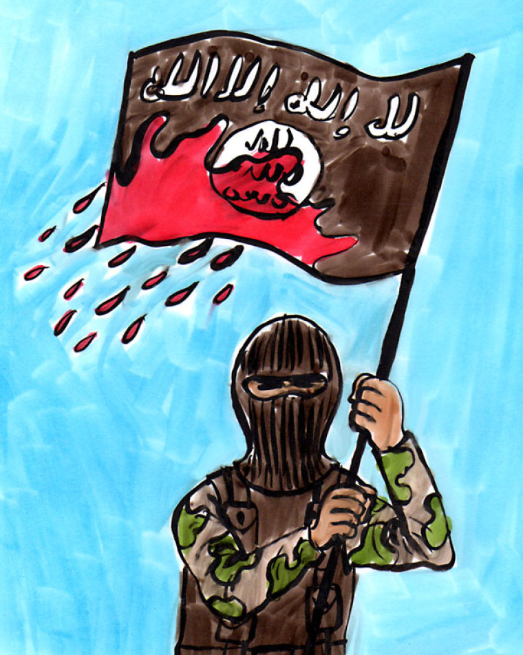 ISIS' Bloody Flag Waves On