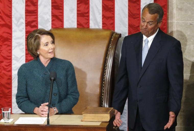 Nancy Pelosi, John Boehner
