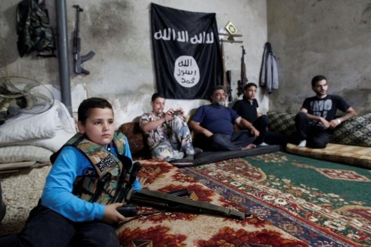 Syrian child fighter