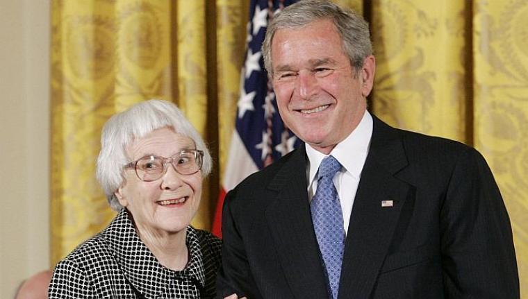 Harper Lee before receiving Presidential Medal of Freedom in 2007
